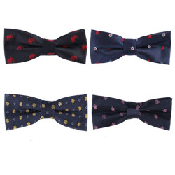 High-end silk woven floral bow tie
