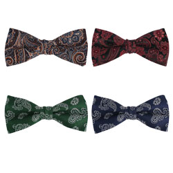 2019 high-grade custom Fashion silk paisley bow tie
