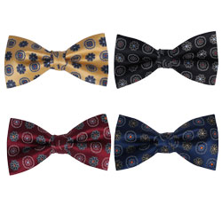 High-end silk printed bow tie