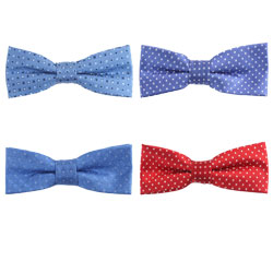 Fashion silk dot bow tie