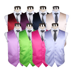 Fashion Mens Solid Color Casual polyester Waistcoat