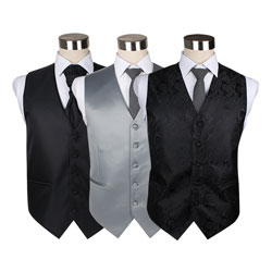 Mens formal polyester suit business waistcoat