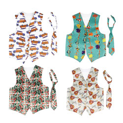 Spring Casual Cartoon Printed Kids Fashion Party Kids Waistcoat