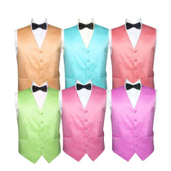Mens fashion colorful polyester hotel waiter vest