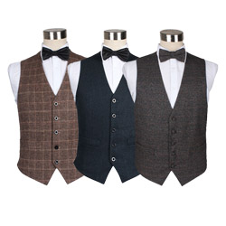 Custom Fashion Solid Color Casual wool Waistcoat