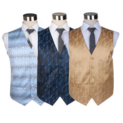 Factory custom mens wedding party polyester woven waistcoat