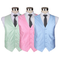 2018 Newest style mens colorful Polyester woven dot waistcoat