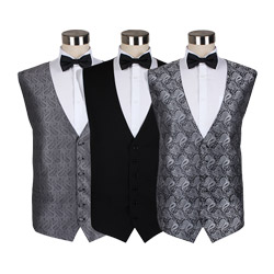 New collection men's extended polyester party wedding waistcoat