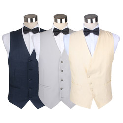 Fashion Mens waiter Solid Color Casual cotton Waistcoat