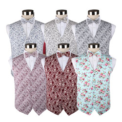 New style custom cotton printed wedding party waistcoat