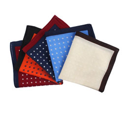 2019 custom Men's Fashion dot wool pocket square