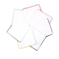 Men's and kids Pure white casual cotton pocket squares