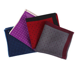 Latest High quality Fashion wool dot colorful pocket square