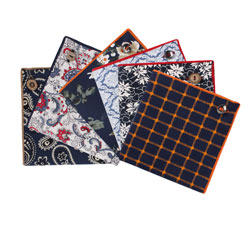 Mens Fashion new style cotton printed pocket square