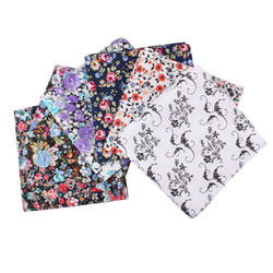 100% cotton printed fashion pocket square for men and women
