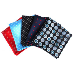 Fashion party mens polyester Woven dot pattern Pocket Square