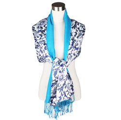 Latest custom Fashion 100% silk printed shawls for women