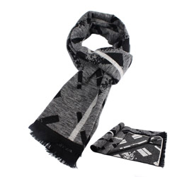 Fashion winter men's grey viscose scarf