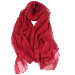 2019 New style ladies' high-end Pure color silk scarves