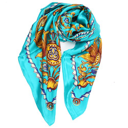 Latest 2019 high-end 100% silk printed scarves for ladies