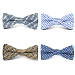 New style custom beautiful woven mens polyester bow tie
