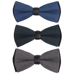 Fashion TR bow tie with leather