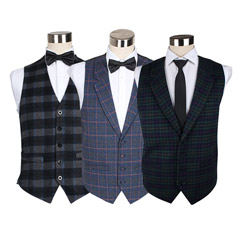 2018 New style high-end mens customized casual wool waistcoat