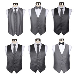 Customize various men's Pure grey business waistcoats