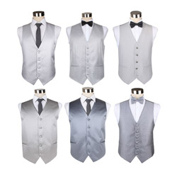 2018 high-end polyester light grey business vest for men