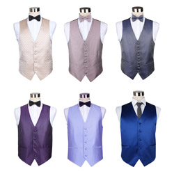 Fashion men's multicolored polyester casual waistcoat
