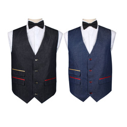 Men's fashion spring casual denim vest