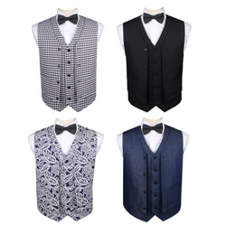 Fashion men's casual double-breasted TR vest