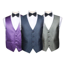 Fashion colorful party/hotel waistcoat