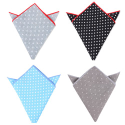 Factory Outlet custom cotton dot printed pocket square