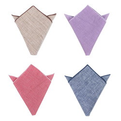 fashion Pure color cotton handkerchief