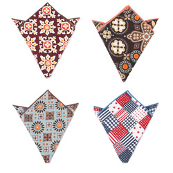 Xiuhe Factory ladies fashion cotton pocket square with Different designs