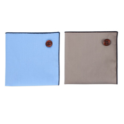 2018 latest custom Plain coloured cotton pocket square