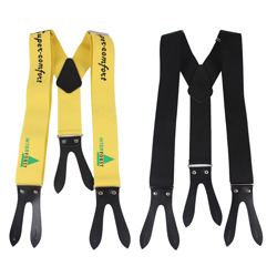 Factory custom personalized elastic suspender with logos