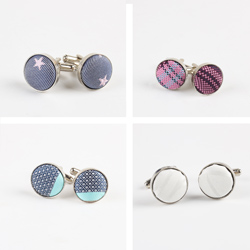 2019 Latest style fabric cufflinks for suit