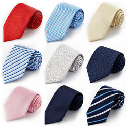 Factory wholesale men's business casual polyester spot tie