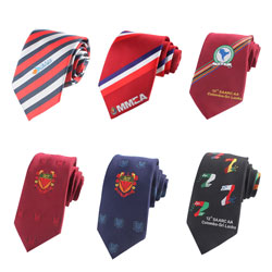 New style high-end custom logo silk neckties for Enterprises and groups
