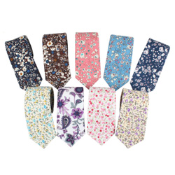 New Fashion Custom casual Cotton Fancy Floral Ties