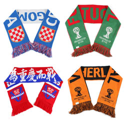 2018 winter Custom made soccer Football match scarf for fans