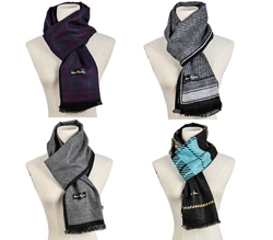 2018 New winter custom viscose flannelette scarves for men