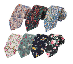2018 New hot selling custom cotton floral necktie