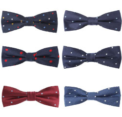 Fashion Chinese Men Neckwear Polka Dot Bowtie Silk Men Bow Tie