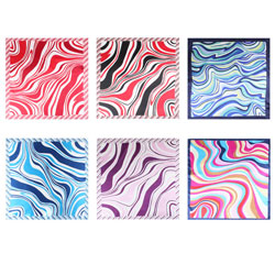 Custom Printed Women's Stock Polyester Scarves for Wholesale