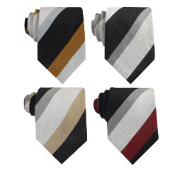 Professional Suppliers Custom Ties Striped Linen Cotton Blending Necktie for Men