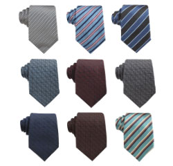 Cheap Customed Strip Fashion Style 100% Silk Woven Korea Necktie