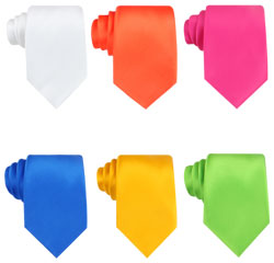 OEM/ODM Custom Colorful Plain Neckties Green Polyester Cheap Ready Tie